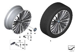 BMW LA WHEEL MULTI-SPOKE 708 - 19