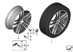 704 BMW LA WHEEL M DOUBLE SPOKE 704-19