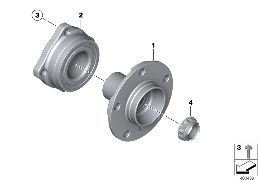 SIDE SHAFT/WHEEL BEARINGS