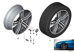 BMW LA WHEEL DOUBLE SPOKE 703M - 20