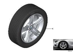 BMW LA WHEEL STAR SPOKE 393 - 17''