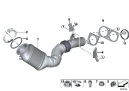 ENGINE-SIDE CATALYTIC CONVERTER