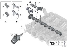 VALVE TIMING GEAR,ECCENTR.SHAFT,ACTUATOR