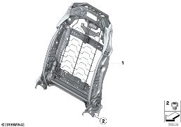 SEAT, FRONT, BACKREST FRAME
