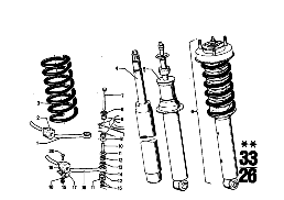 REAR SPRING STRUT COIL SPRING AND PARTS