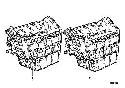 SHORT ENGINE/CRANK CASE WITH PISTONS